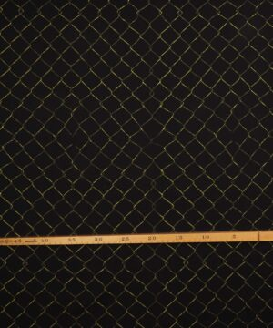 Trådhegn på sort - French Terry -