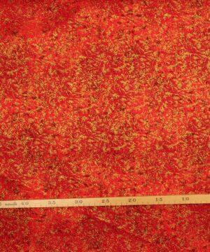 Glimmer, rød med guld - Patchwork -