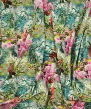Ræv og hare på blomster - Jersey -