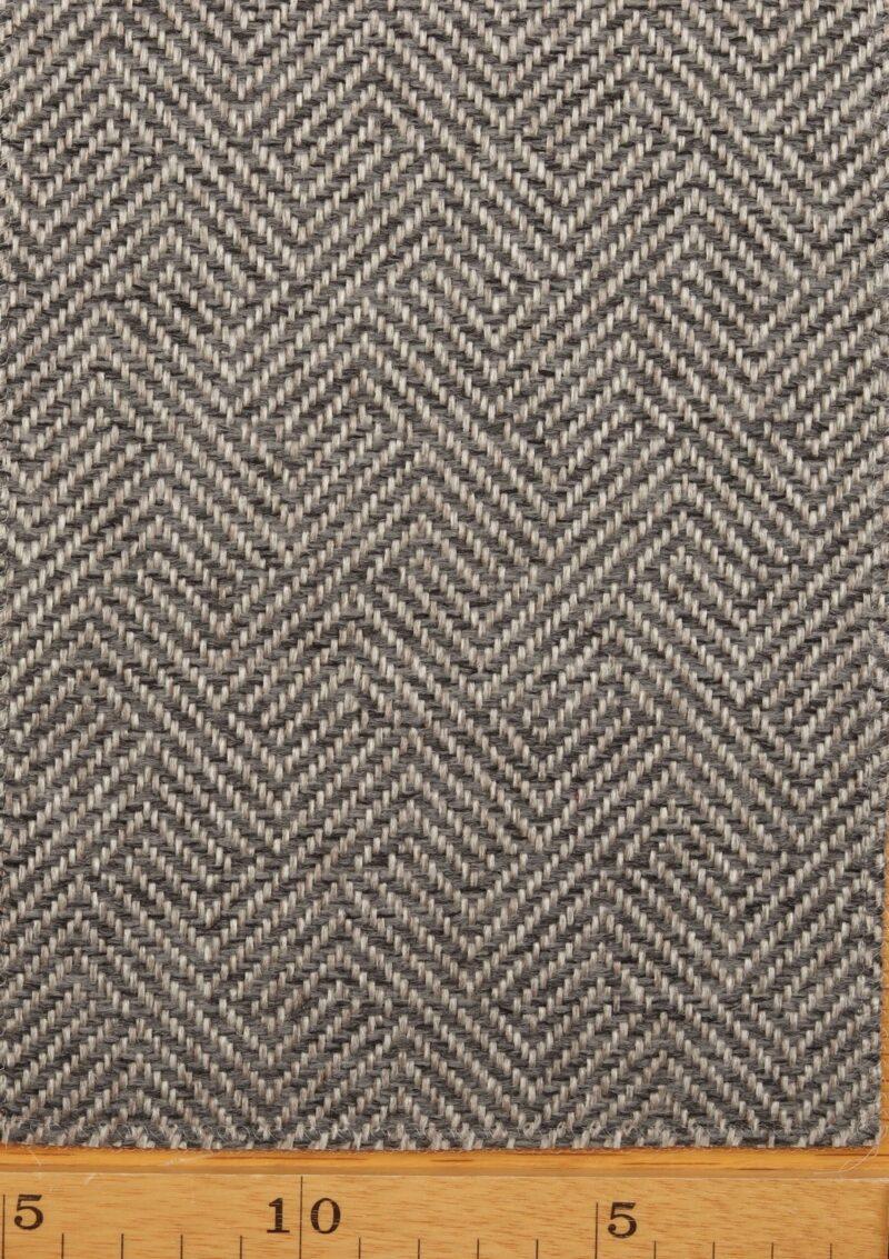 Grå/lysegrå møbelstof - Uld/polyester -