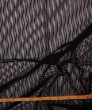 Sort - Polyester med meget stræk -