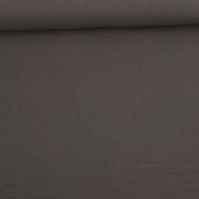Grå - Double Gauze blestof/musselin stof -