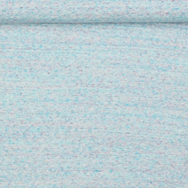 Lyseblå m. farvede nister - Rib -