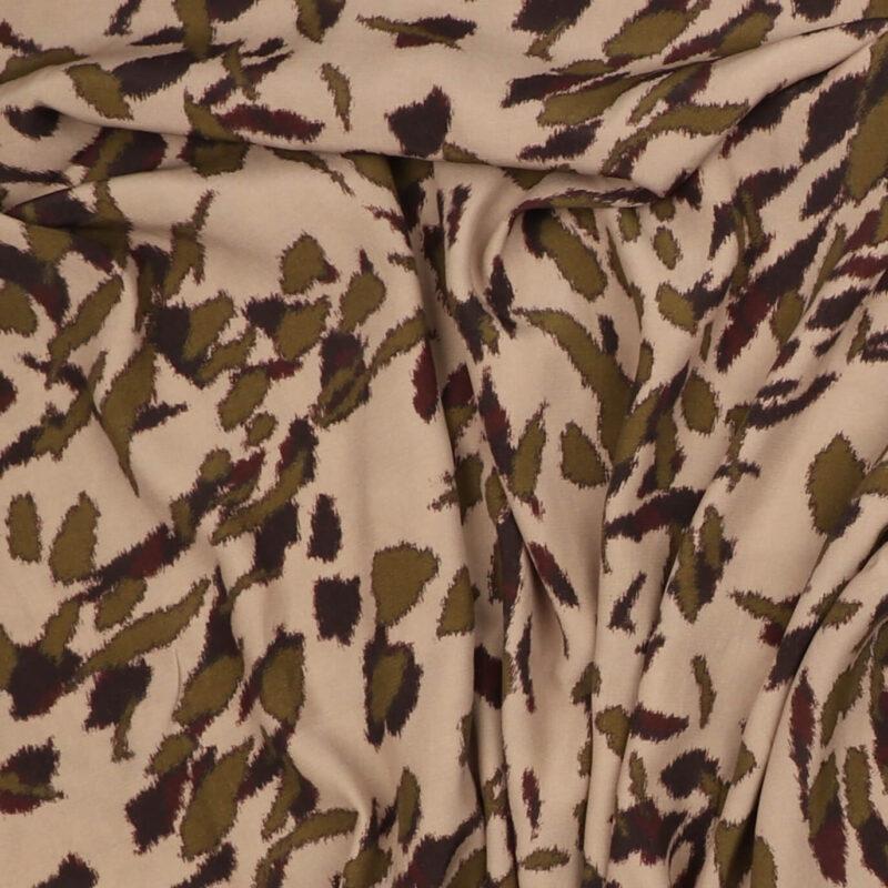 Mønster på lys rosa/pudder - Viskose/polyester -
