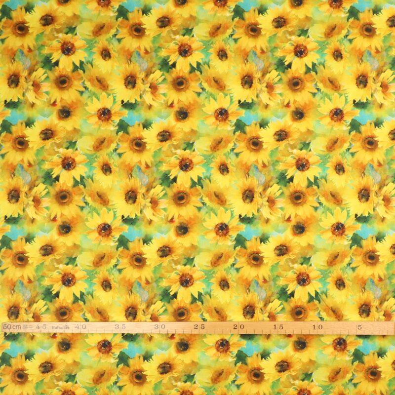 Sunflower Stampede, solsikker - Patchwork -