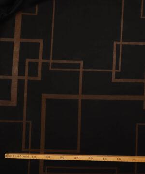 Sort med transparente firkanter -