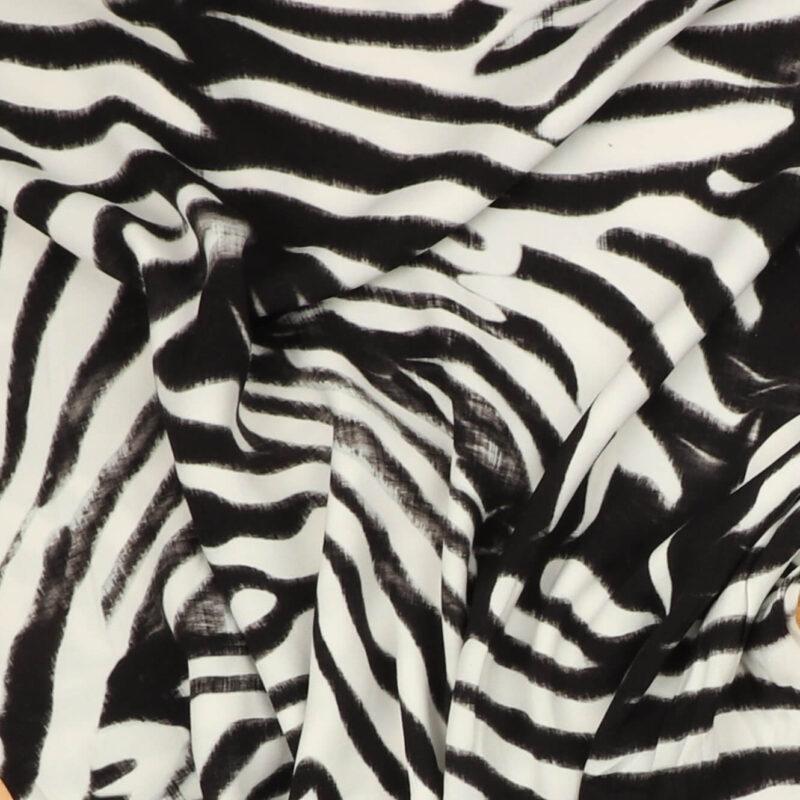 Sort/hvid - Viskose/polyester -