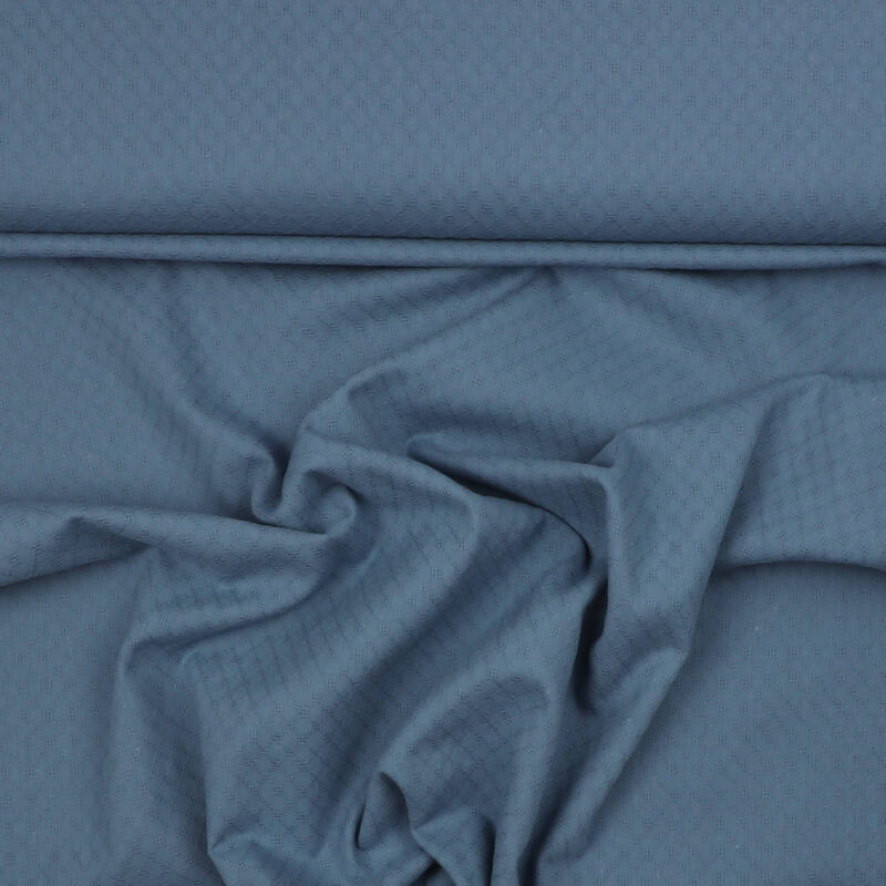 Jeansblå - Broderie Anglaise - Info mangler
