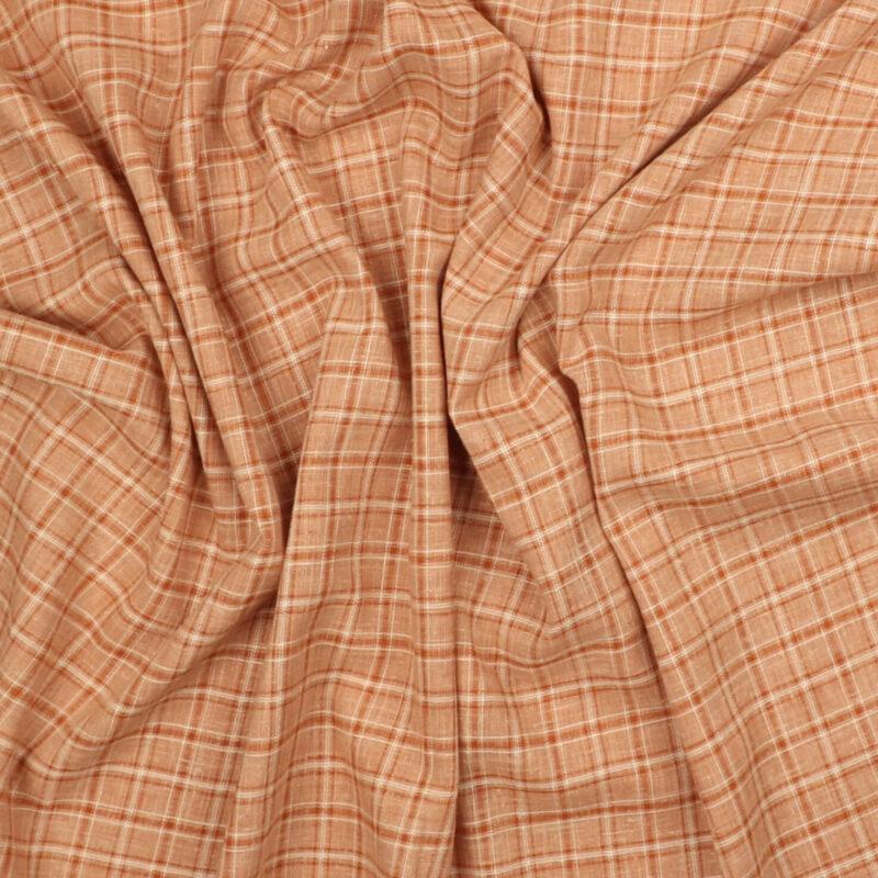 Tern i orangerøde nuancer - Hør/bomuld -