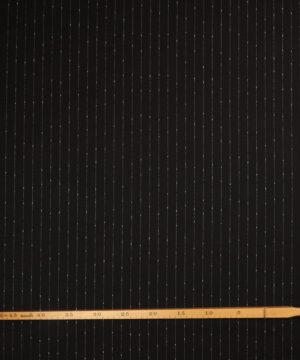 Sort m. hvid stribe - Bomuld/polyester -