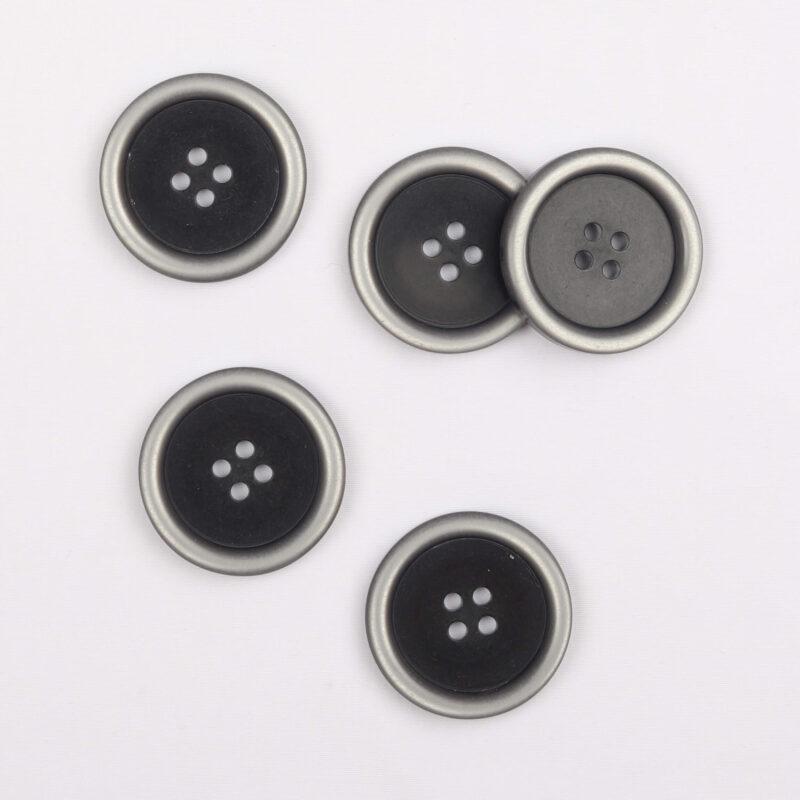 Koks m. grå kant - 25 mm -
