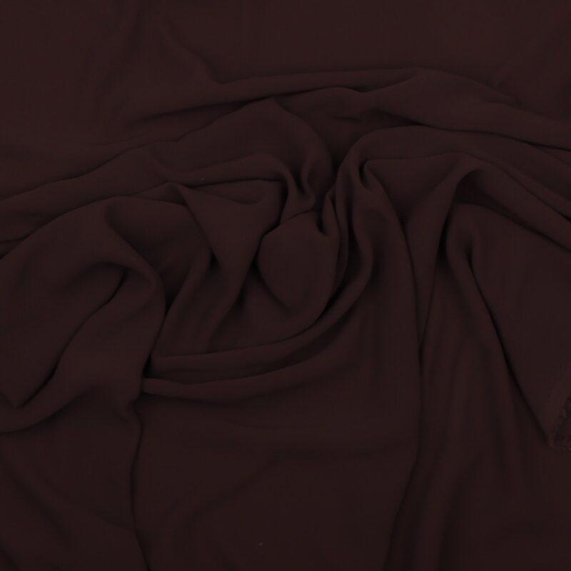Mørkebrun - Chiffon, polyester -
