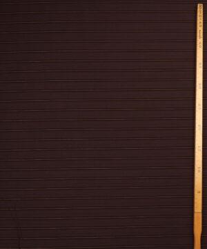 Mørkebrun m. gylden stribe - Bomuld/polyester m. stræk -
