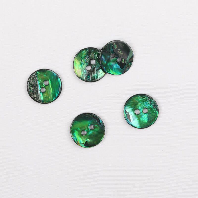 Grøn - perlemor 20 mm -