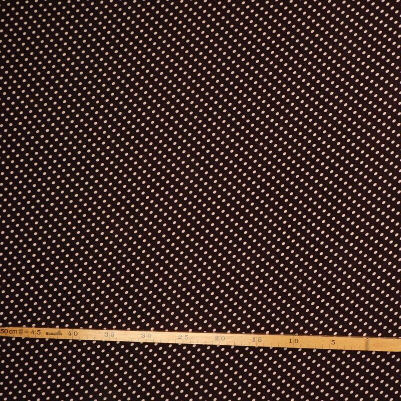 Brun m. lyse prikker - Polyester -