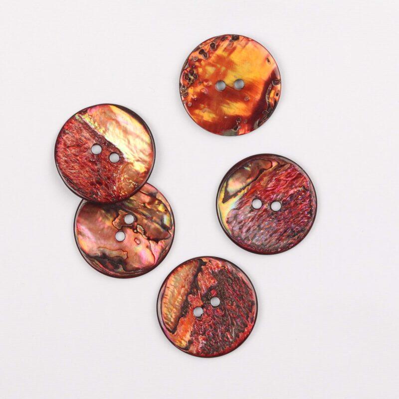 Rød/orange - perlemor 25 mm -