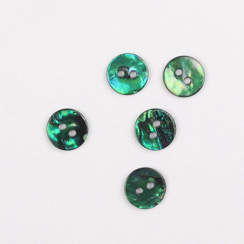 Grøn - perlemor 15 mm -