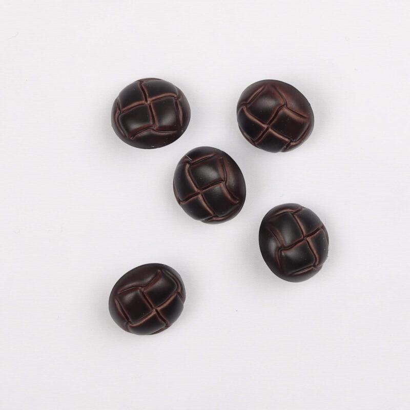 Læderlook, brun - 15 mm -