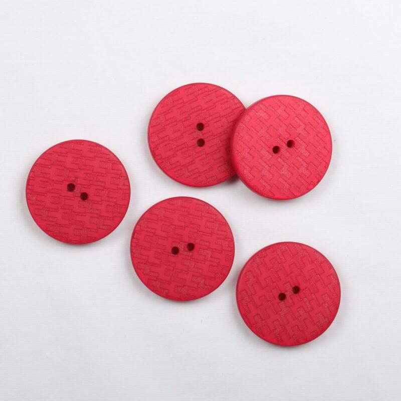 Rød m. præget mønster, ø 27 mm -