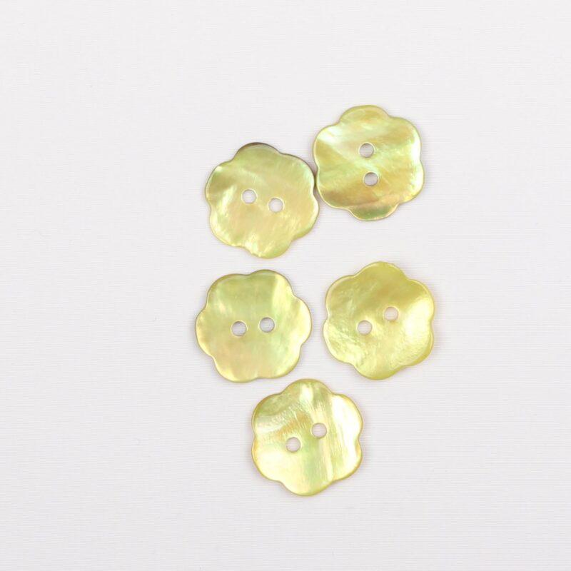 Blomst lime - Perlemor 17 mm -