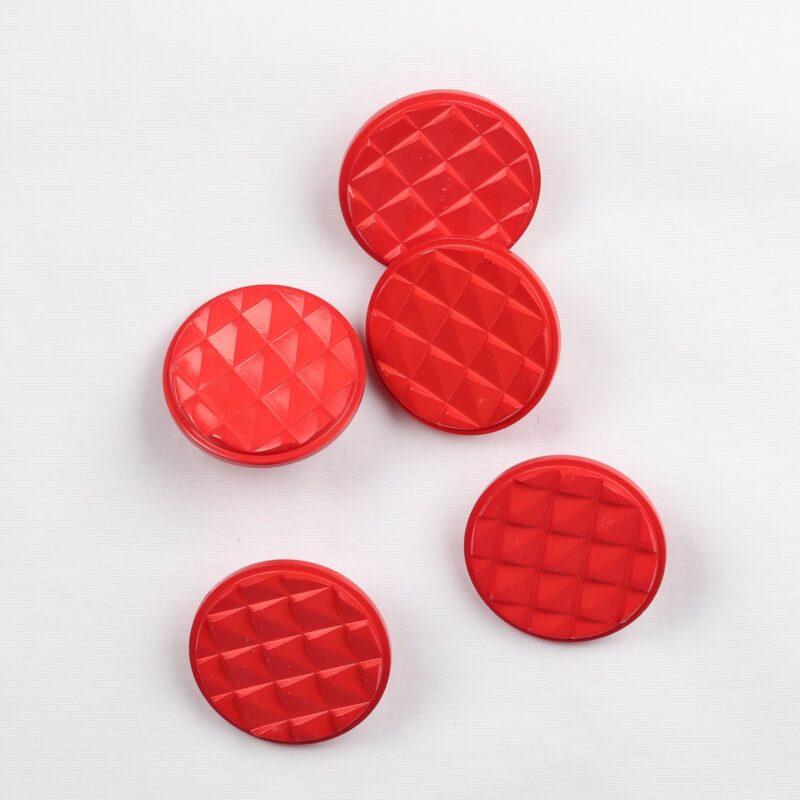 Rød m. trekanter, ø 25 mm -