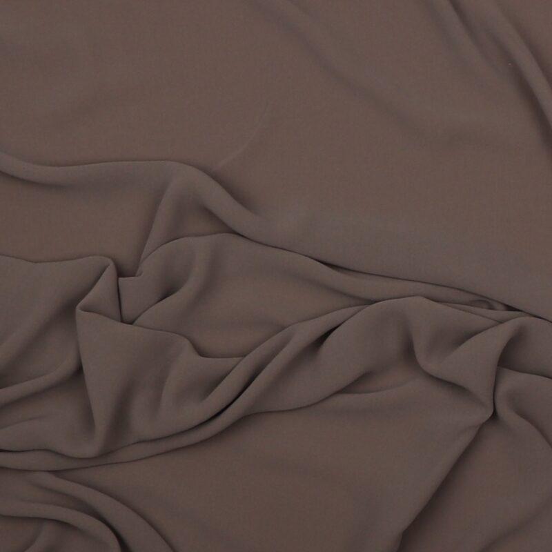 Grå- Chiffon, polyester/viskose -