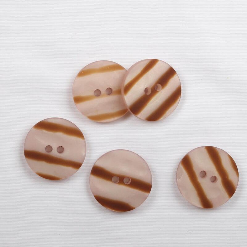 Lyserød/lys brun, ø 20 mm -