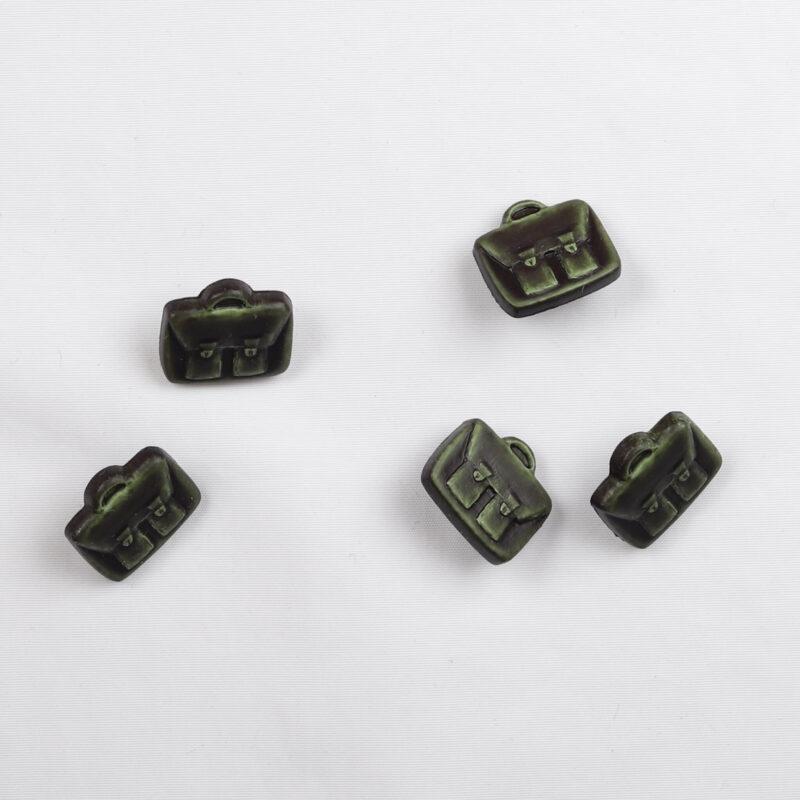Mørkegrøn taske, 12x15 mm -