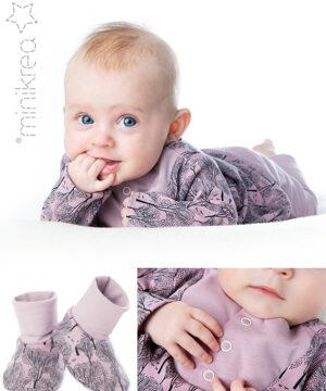 Babysæt med sko, str.0-2 år - Minikrea 11420 - Minikrea