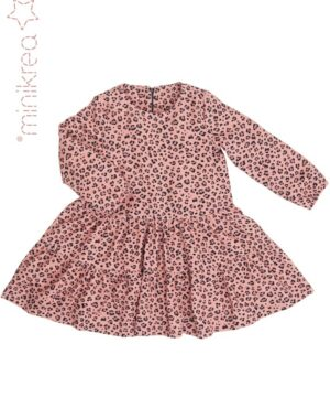 Kjole med flæse str. 2-14 år – minikrea 33030 - Minikrea
