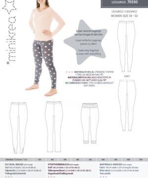 Leggings, str. 34-50 - Minikrea 70330 - Minikrea