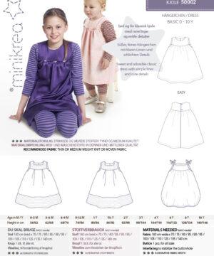 Kjole, str.0-10 år - Minikrea 50002 - Minikrea