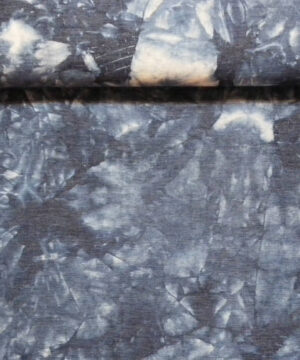Mønstret blå - Kraftig bomuld med stræk