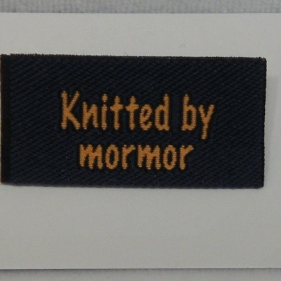 Knitted by mormor -