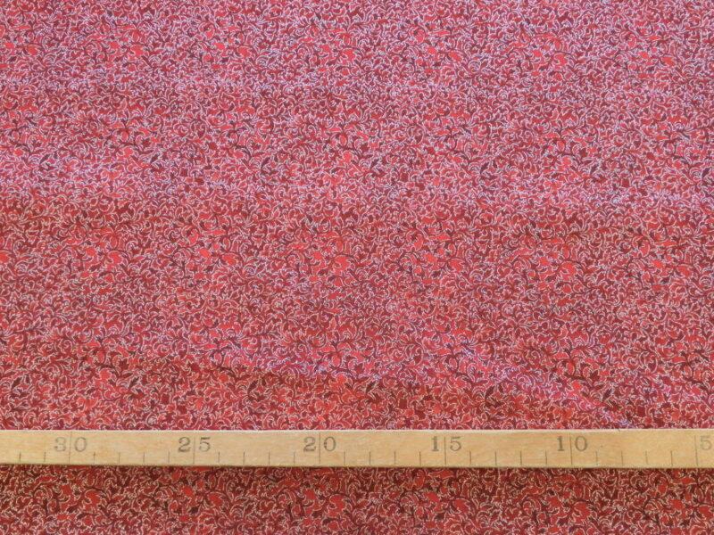 Rød m. mønster og sølvkanter, Patchwork -