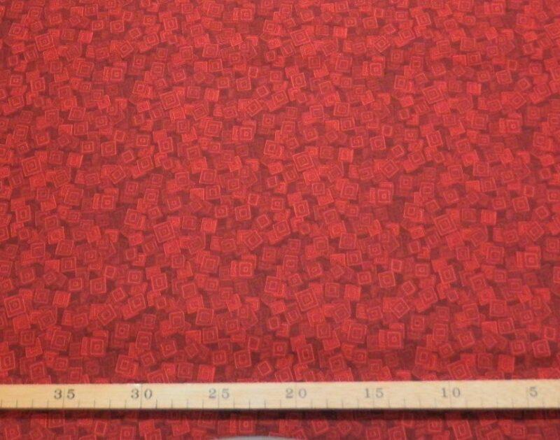 Røde kasser på dyb rød baggrund -