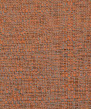 Orange, beige groft vævet, bomuld - Info mangler