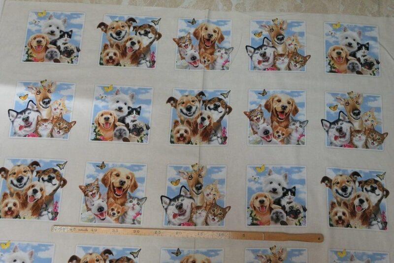 Glade dyr, patchwork rapport (84) -