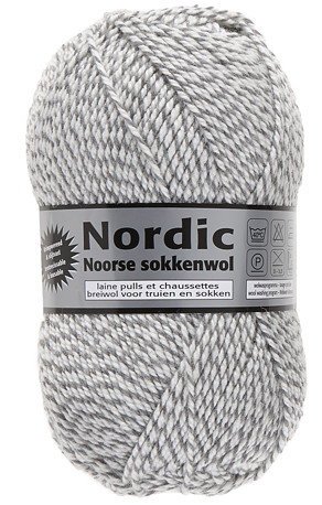 Nordic fra Lammy Yarns (Ragsokke uld grå/hvid) -