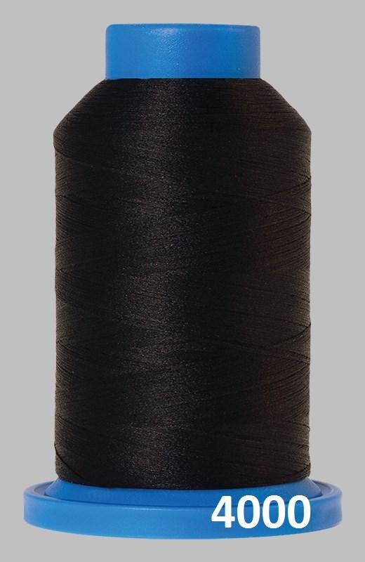 Seraflock fra Amann Mettler, elastisk sytråd - Sort -