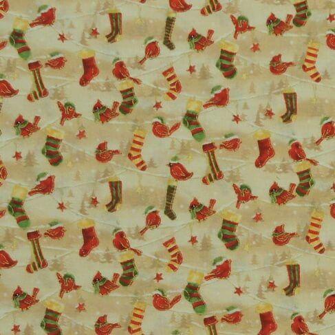 Små fugle og julestrømper - Patchwork -
