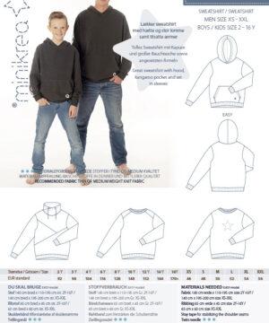 Sweatshirt, str. 2-16 år / str. XS-XXL - Minikrea 66240 - Minikrea