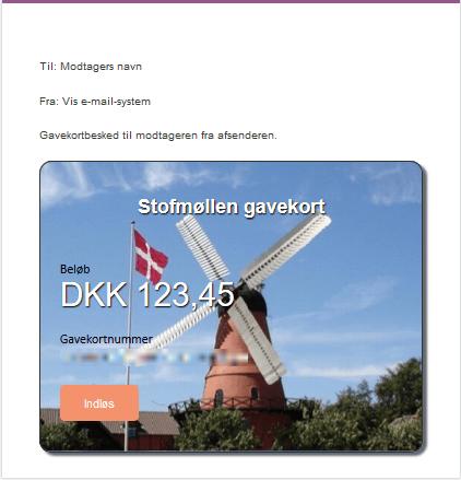 Gavekort (email) -