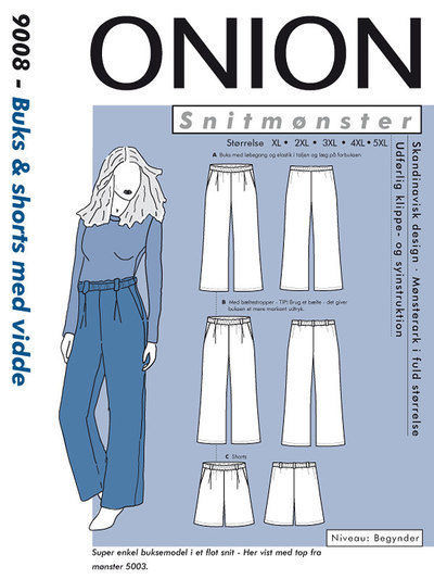 Buks & shorts med vidde, str. XL – 5 XL – Onion 9008 - Onion