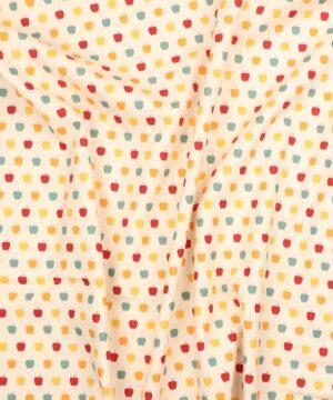 Små farvede æbler - Let bomuld - Info mangler