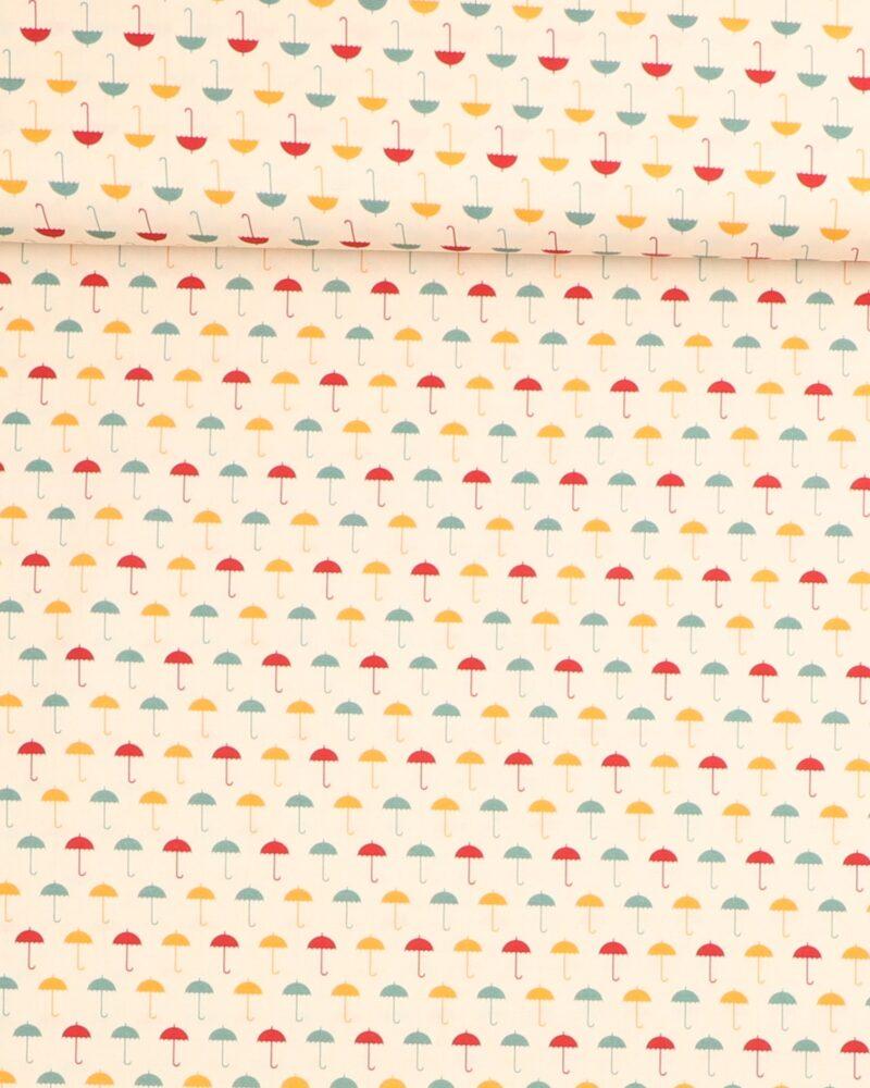 Små farvede paraplyer - Let bomuld -
