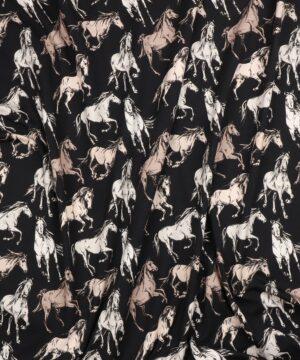 Heste på sort bundfarve - Jersey -