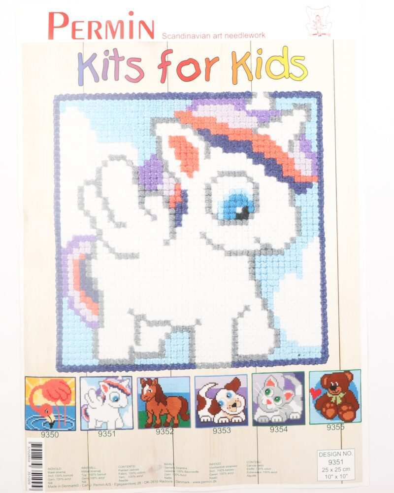 Kits for kids - Enhjørning 25x25 cm -
