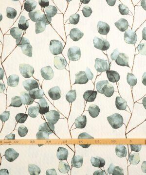 Blade på hvid bund - Boligtekstil - Info mangler