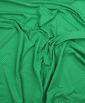 Blå prikker på grøn - Jersey -